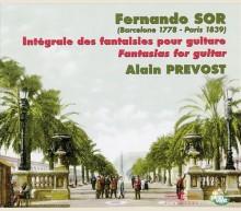 FERNANDO SOR - INTEGRALE DES FANTAISIES POUR GUITARE 1778 - 1839