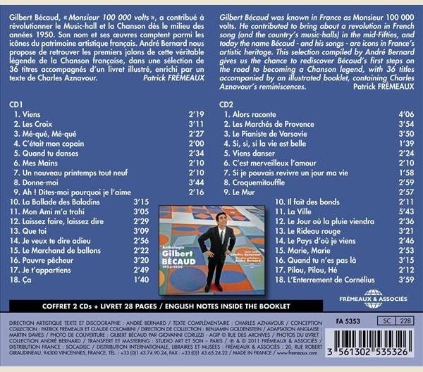 Remises Musique - GILBERT BECAUD - ANTHOLOGIE 1953-1959 - FA5353