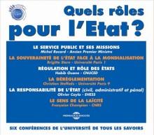 QUELS ROLES POUR L'ETAT ?