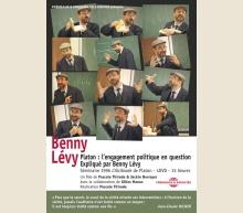 BENNY LÉVY - PLATON : L'ENGAGEMENT POLITIQUE EN QUESTION EXPLIQUÉ PAR BENNY LÉVY - SÉMINAIRE 1996 L'ALCIBIADE DE PLATON DVD
